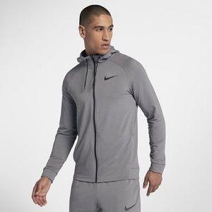 Nike Gray Full Zip Training Lightweight Hoodie